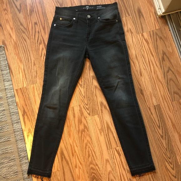 Denim - 7 for all mankind skinny ankle jeans- dark gray